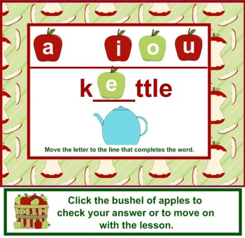 Bushel of Word Fun - A Lesson in Short Vowel Sounds