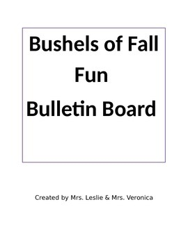 Bushels of Fall Fun Bulletin Board