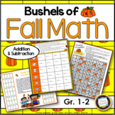 Autumn Addition and Subtraction Games First Grade and Second Grade