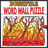 Earth Science - Bushfire / Wildfire Word Wall Puzzle