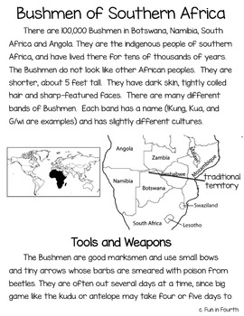 Bushmen of Southern Africa: Global Indigenous Cultures Informational Article