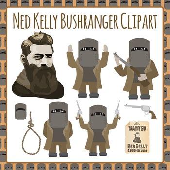 Bushranger Ned Kelly - Australian History Clip Art Pack for Commercial Use