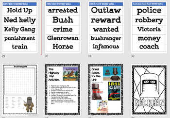 Bushrangers Mini Project, lesson activities and worksheets