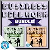 Business Bell Work Bundle (Volumes 1 & 2)   Distance Learning