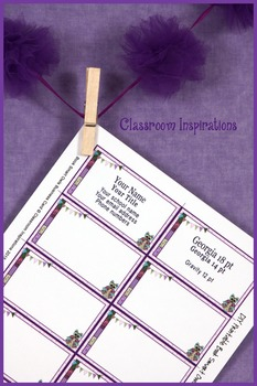 Business Cards - Coordinates with Book Smart Owls Classroom Theme