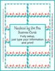 Business Cards - Coordinates with Nautical by the Sea Classroom Theme