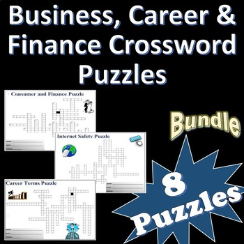 Business, Career & Finance Crossword Puzzle Bundle