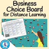 Business Choice Board for Distance Learning