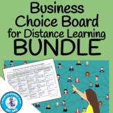 Business Choice Board for Distance Learning BUNDLE