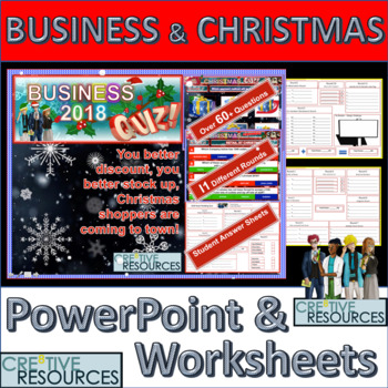 Business Christmas PowerPoint Quiz lesson 2019