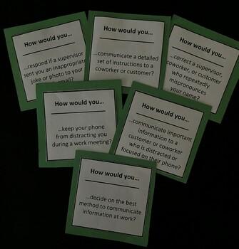 Business Communication Card Set Group Activity