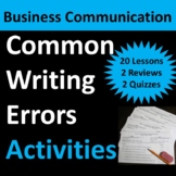 Business Communication: Common Writing Errors – Warm-Up, Homework, or Sub Lesson