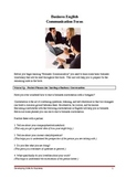 Business Communication and English