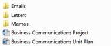 Business Communications Unit Plan
