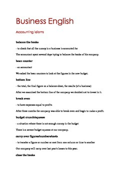 Business ELT_Accounting Idioms