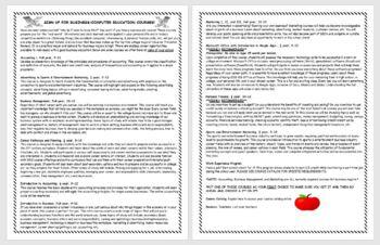 Business Education Courses Promotional Handout