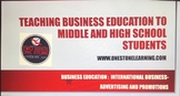 Business Education Lesson Plan:  International Business-