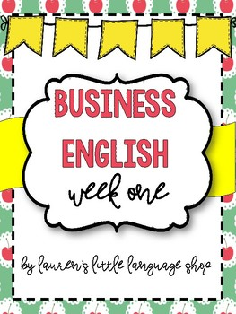 Business English Week 1