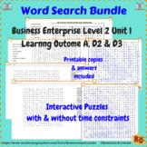 Business Enterprise Environment Interactive Word Search Bundle