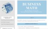 Business & Entrepreneurship Math Reference Sheet
