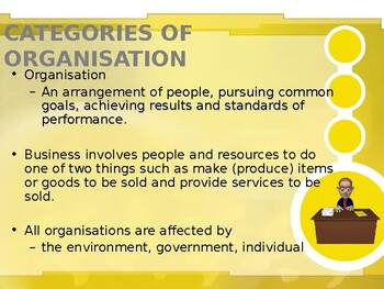 Business Environment - Organizations
