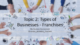 Topic 2: Business Environment - Types of Businesses: Franc