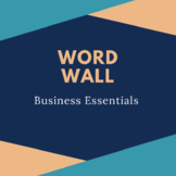 Business Essentials Word Wall