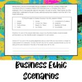 Business Ethic Scenarios