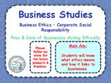 Business Ethics - CSR - Corporate Social Responsibility -