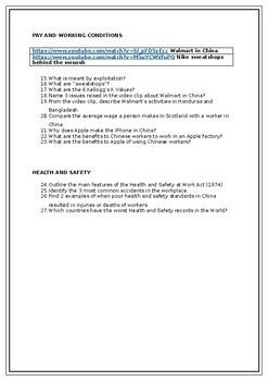 Business Ethics Pupil Worksheet