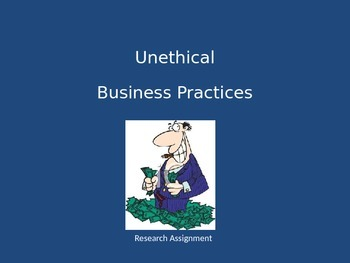 Business Ethics Research Project