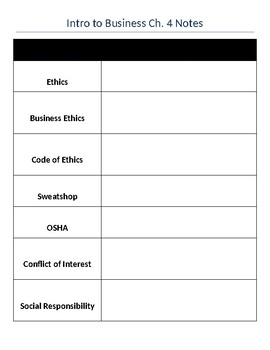 student assignment on business ethics