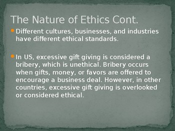 Business Ethics & Social Responsibility - Intro to Business Ch. 4