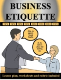 Business Etiquette Tips Distance Learning (EDITABLE)