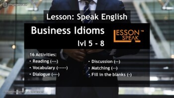 Business Idioms lvl 4 - 7 (Distance Learning)