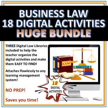 Business Law 18 Digital Activities Bundle HUGE!  SAVE MONEY!!!