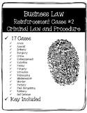 Business Law Cases #2 - Criminal Law & Procedure