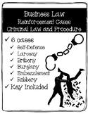 Business Law Cases - Criminal Law & Procedure