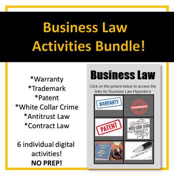 Business Law Digital Activities NO PREP!!!