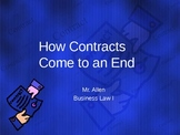 Business Law I - How Contacts Come To An End