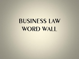 Business Law Word Wall