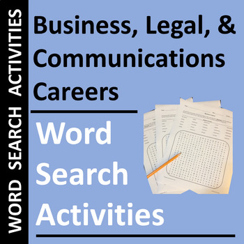 Business, Legal, & Communications Careers Word Search Puzzles