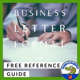 FREE Business Letter Writing Format Reference Guide & Easel Activity
