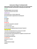 Business Letter: Revising and Proofreading Checklist