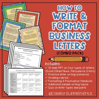 Business Letter Writing Scenarios and Prompts - BUNDLE - Common Core