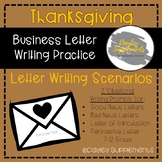 Business Letter Writing Scenarios and Prompts - THANKSGIVI