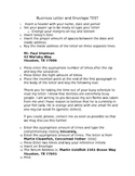 Business Letter and Envelope Test