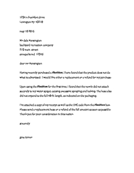 Business Letter for Editing