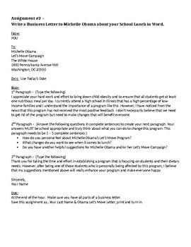 Business Letters - Block Format