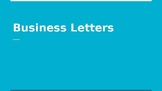 Business Letters Unit [Complaint, Good News, and Persuasiv